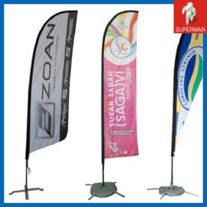 Digital Printing Feather Flags for Promotion