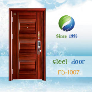 China Newest Develop and Design Single Steel Security Door (FD-1007) pictures & photos