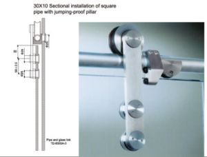304SUS Bathroom and Office Door Hardware Accessories Sliding Door pictures & photos