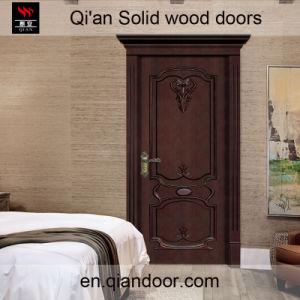 Black Walnut Solid Wood Door Interior Wood Engraved Doors pictures & photos