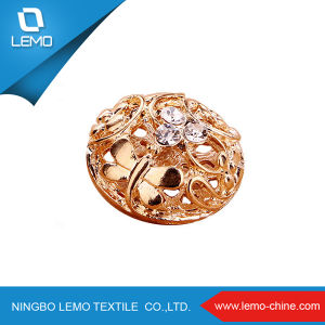 Flower Rhinestone Metal Jeans Button for Women Dress pictures & photos