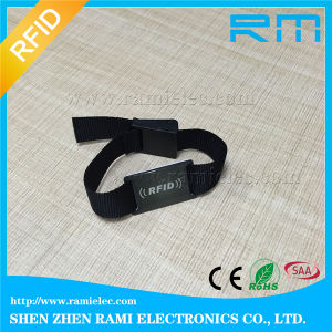 Professional Festival Fabric RFID Bracelet Ntag216 Chip/RFID Wristband for Event