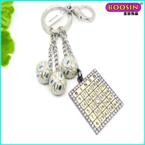 Hot Sale Custom Enamel Metal Keychain with 3D Sports Charm pictures & photos