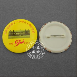 Button Tin Badge with Tinplate, Printing Badge (HY-MKT-0050) pictures & photos