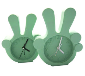 Unbreakable Fluorescent Color Logo Printing Silicone Mini Alarm Clock pictures & photos