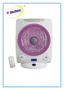 Cool Rechargeable Desk Fan with Emergency LED Light and Remote pictures & photos