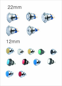 12mm 4pin Waterproof LED Push Button Switch (DS-12B-DL) pictures & photos