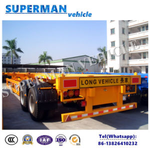 40FT 2 Axle Skeleton Container Chasiss Utility Cargo Frame Semi Trailer pictures & photos