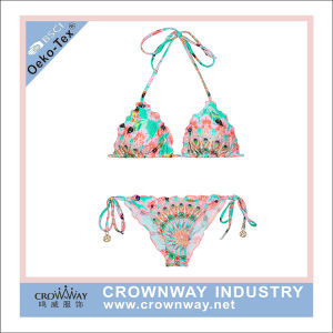 Girls Sexy Sublimation Print Triangle Micro Bikini for Cheap Wholesale pictures & photos