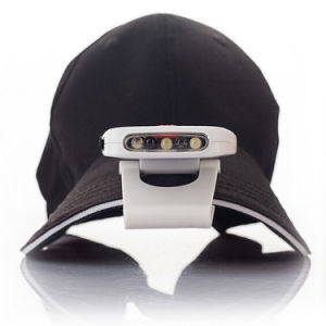 Upgrade Rechargeable Infrared Sensor Clip on Hat Cap Headlamp for Camping Hiking pictures & photos
