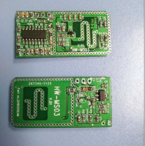 DC5V-24V Single PCB RF Microwave Radar Sensor Module (HW-MS03) pictures & photos