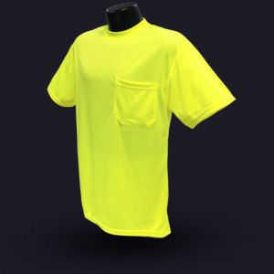 High Visibility Safety T-Shirt with ANSI07 (T004) pictures & photos