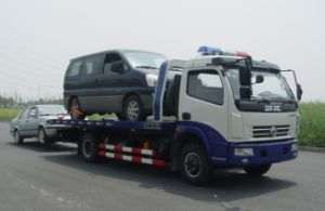 Professional Supply Isuzu Street Rescue Flat-Bed Tow Truck for Cars