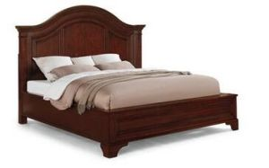 Home Wooden Antique Panel King Curved Bed Hdbd