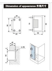 "Z-90A Zinc Alloy 90"" Single-Sided Bathroom Clamp pictures & photos"