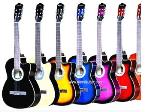 China Guitar Factory Cheap Price Colour Practice Classic Guitar pictures & photos