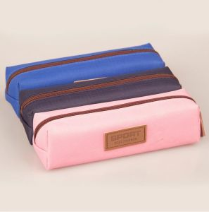 Stationery Bag Double Zipper Pencil Bag Rectangular Fashion Design Pencil Case pictures & photos