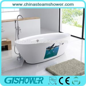 Ellipse Shaped Free Standing Bathtub (BL1005E) pictures & photos