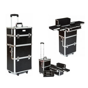 High Quality Black Makeup Train Case (HX-A0724) pictures & photos