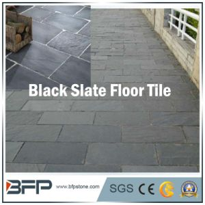 Black Color Floor Tile Slate for Flooring, Wall Panel, Roofing, Decoration, Landscaping pictures & photos
