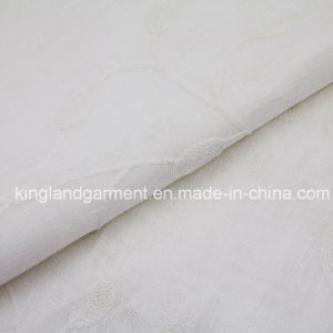 Polyester White Ivf Leaves Embossed Wide Width Inherently Fire Retardant Fireproof Curtain pictures & photos