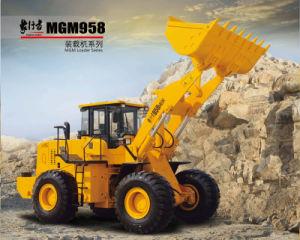 Mgm958 Ce 5 Ton Front Wheel Loader with 3cbm Shovel