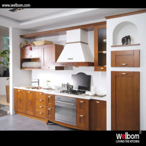 Welbom Design of Wooden Kitchen Cabinet pictures & photos