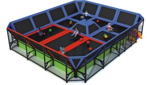 Kaiqi Professional Children′s Trampoline Playground (KQ50124B) pictures & photos