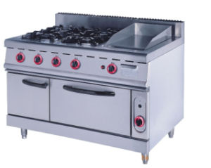 Commercial Gas 4 Burner Range Electric Oven pictures & photos
