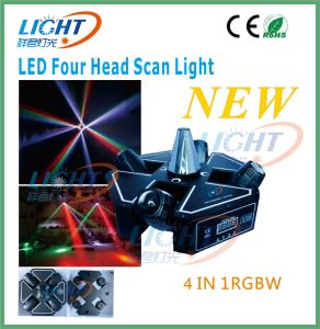 4X12W LED Moving Head CREE Quad Beam Scan Light pictures & photos