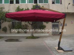 Outdoor Patio Garden a- Garde Wood Hard Umbrella pictures & photos