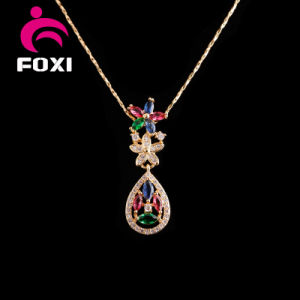 Luxury Drop Design Fashion Pendant and Earrings Jewelry Sets pictures & photos