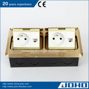 Recessed Socket with French Outlet Kitchen Office Hotel Counter Floor