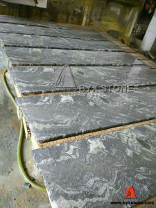 Nero Santiago (cross cut) Flamed Granite Steps for Outdoor Paving pictures & photos