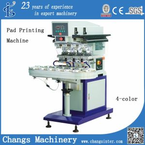 Spy-4 4 Colors Pneumatic Pad Printer with Conveyor pictures & photos