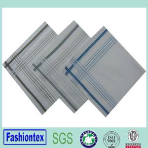 100% Cotton Promotional Mens White Brocade Handkerchief pictures & photos