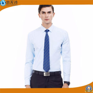 White Fashion Dress Shirt for Men Business Formal Plain Shirts pictures & photos