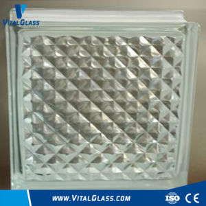 Transparent Lattice Pattern Glass Block for Decoration (GB Grade) pictures & photos
