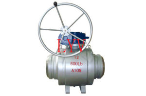 Worm Operated Trunion Stainless Steel Ball Valve pictures & photos