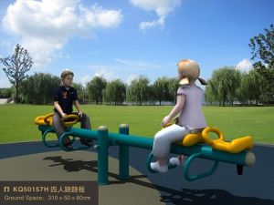 Kaiqi Four-Child Seesaw Toy for Playground (KQ50157H) pictures & photos