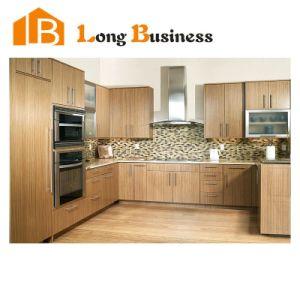 Awesome Wood Grain Melamine Finish MDF Kitchen Cabinet Design (LB JX1119)