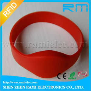 125kHz RFID Silicone Bracelet Adjustable Wristband for Events pictures & photos