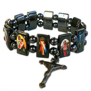 Hematite Saint Rosary Bracelet with Plastic Beads pictures & photos