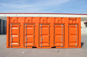 5 Container Door Storage Open Side Container with One End Door pictures & photos