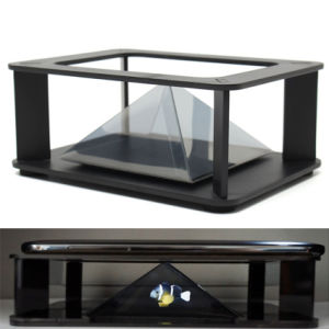 for Samsung for HTC Smartphone DIY Holographic 3D Display Cabint Projector 4D Dimensional Projection Box pictures & photos