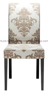 Fabric Upholstered Dining Chair with Solid Wood Feet (I&D-822)