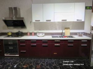Modern UV Colour Painting High Glossy Kitchen Cabinet (FY091) pictures & photos