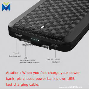 4 in 1 Portable Power Bank External Portable Charger with Built in Type C & Micro USB & Lighting & USB Cable pictures & photos