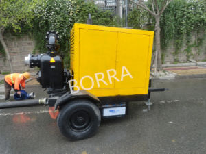 Trash Dewatering Lifting Water Diesel Pump Trailer pictures & photos