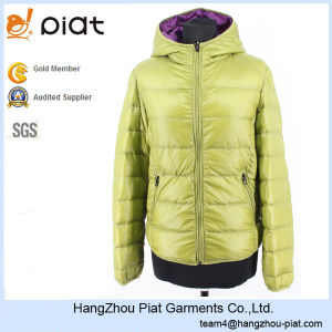 2016 Cheap Ladies Fashion Apple Green 100% Polyamide Hooded Winter Jacket